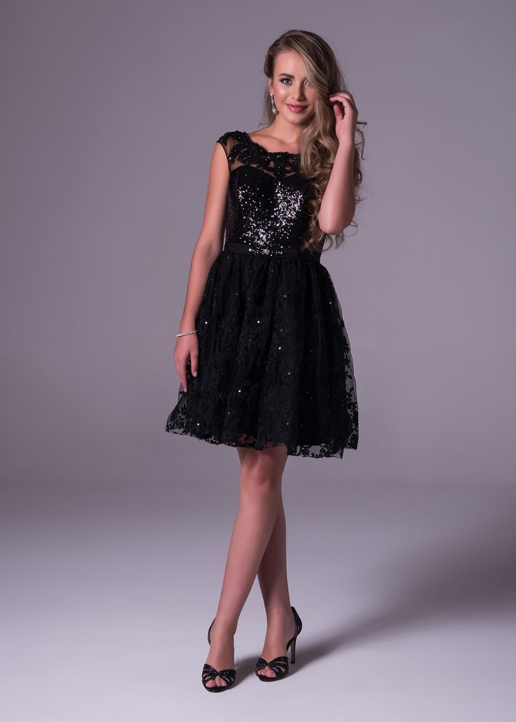 This little black babydoll will have you turning heads. Short lace sequinned tulle skirt and bodice. The back is sheer and open. Viola Chan available exclusively at Bride&co: http://www.brideandco.co.za/product/new-collection/m53261/
