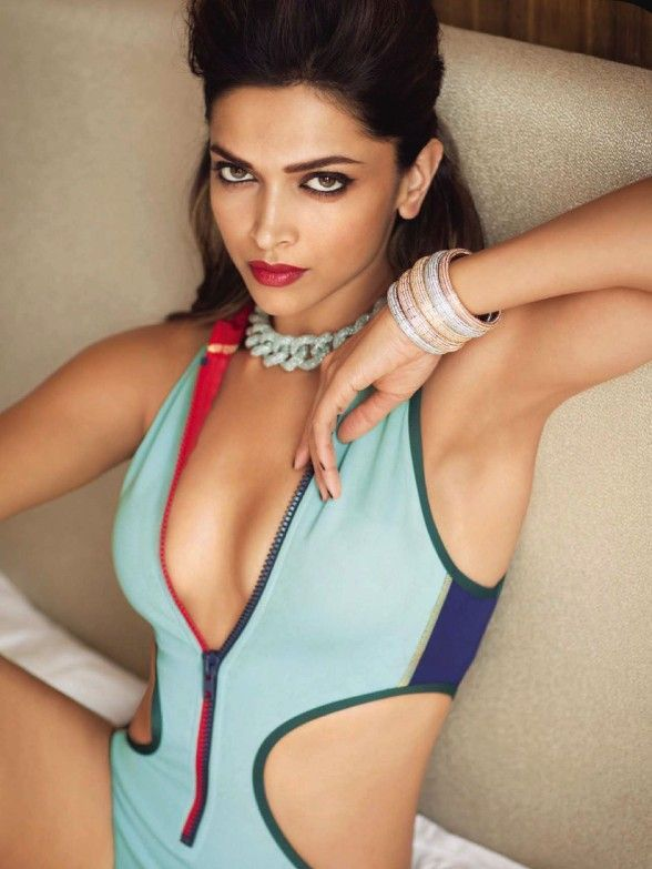 Deepika Padukone in Swimwear For Vogue Magazine June 2014 Issue