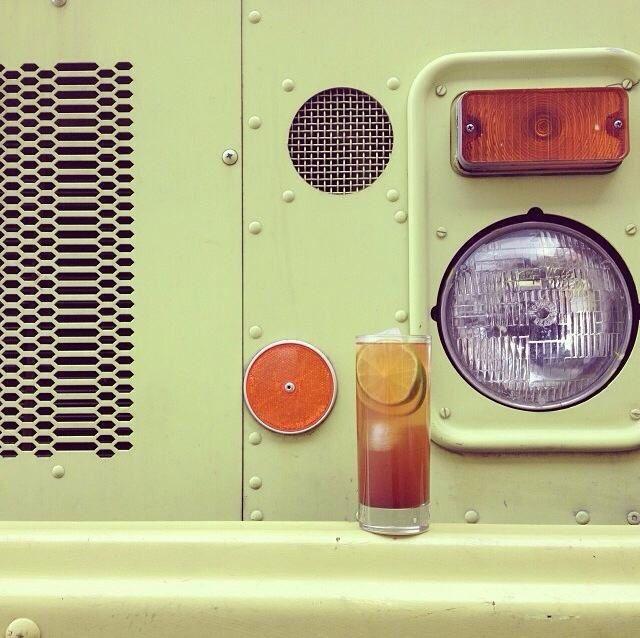 Summer drinks, taco truck