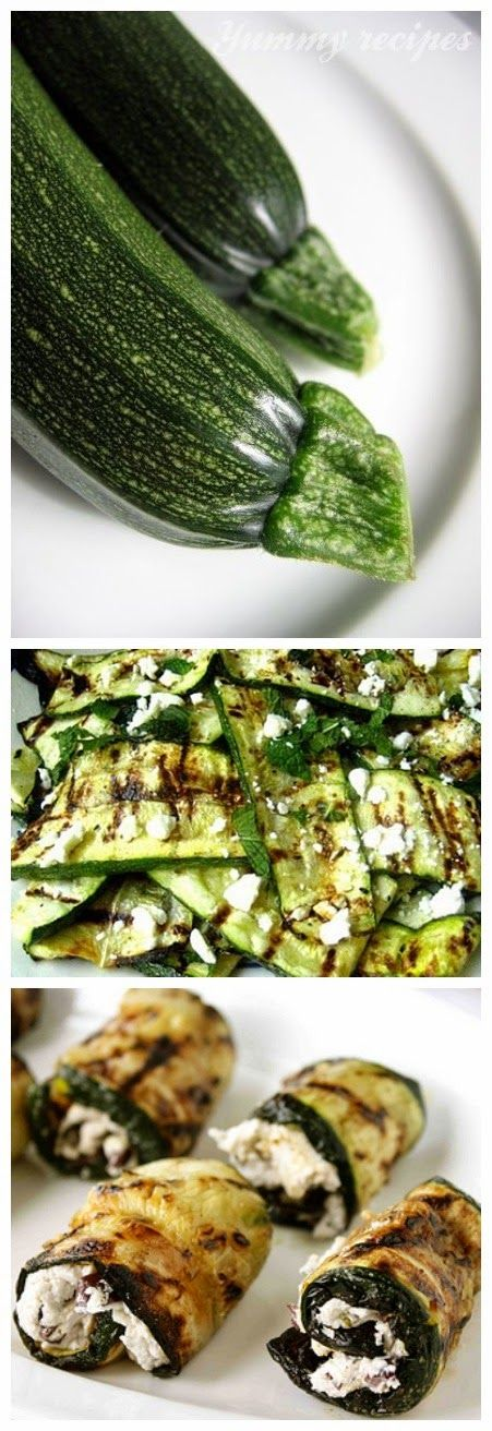 ... and Mint --- Grilled Zucchini Rolls with Goat Cheese, Basil and Olives