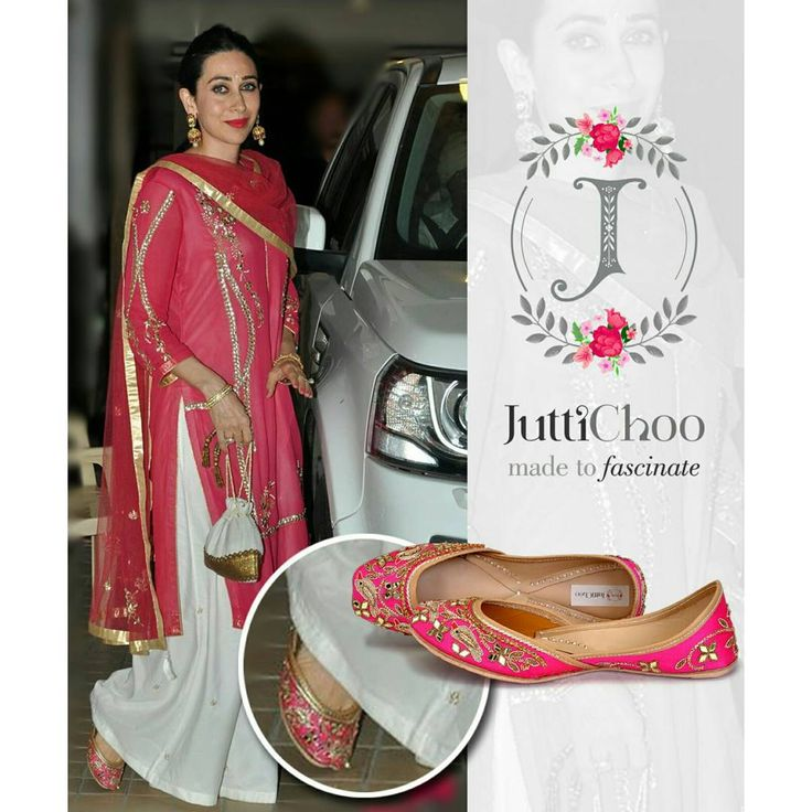 """""""* Celebrity Spotted * #celebspotted ❤ We can't get over this beautiful Picture Beautifull ' Karisma Kapoor ' was Spotted Wearing Our """"Treasure """" Jutti…"""""""