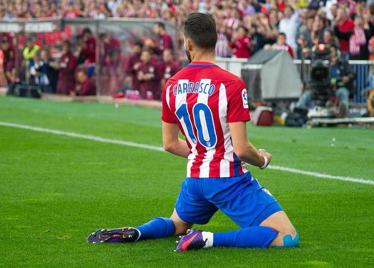 On target again! Yannick Carrasco has scored 6 goals in last 4 games for Atlético de Madrid. via @UEFA #footballplanetcom #carrasco