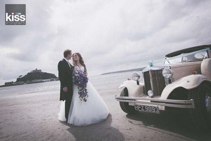 love this beach wedding shot