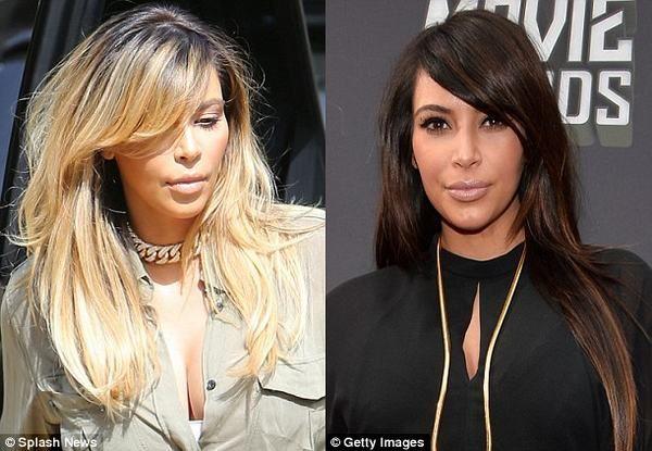   Kim Kardashian   Kim Kardashian Hair Style   Kim Kardashian Blonde ...