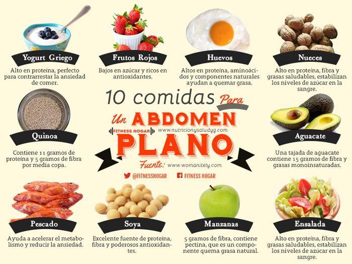 abdomen plano 10 comidas para conseguirlo