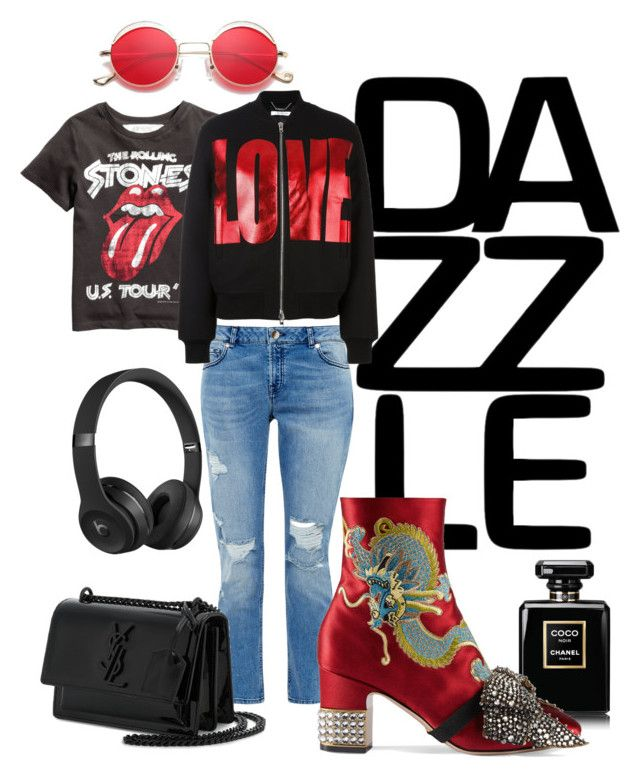 Rock by illetilmote on Polyvore featuring Givenchy, Ted Baker, Gucci, Yves Saint Laurent, Beats by Dr. Dre and Chanel