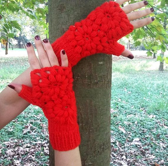 Red Knitted Gloves, Red Women Gloves, Winter Gloves, crochet women Gloves, Fingerless Women Gloves, Knitted Women Gloves, handmade Gloves    Red acrylic knit gloves.  Very stylish.  Boho-style gloves.  You can wear these hand warmers with any clothes.  These handheld heaters are soft and comfortable.  He will warm his hands and arm.  Stylish gloves.  Maintenance Instruction  Hand wash in warm water, dry.  Color: Red   Deliveries will be sent within 1-3 days of receiving payment. You can…