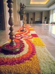 red and white indian wedding decorations - Google Search