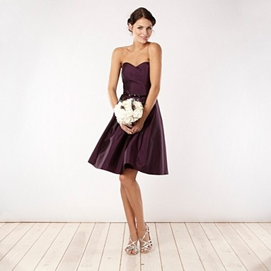 Purple bandeau necked prom dress - Bridesmaid dresses - Dresses - Women -