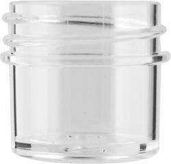 1/4 OZ 33MM 33-400 CLEAR STRAIGHT SIDED POLYSTYRENE JAR | Use for food products, packaging creams, body and hair care products. ALSO AVAILABLE IN: 1/2 OZ, 1 OZ, 2 OZ, 4 OZ, 6 OZ, 8 OZ, 12 OZ, 16 OZ, and 32 OZ (neck sizes vary). #plastic #jar #clear #straight #sides