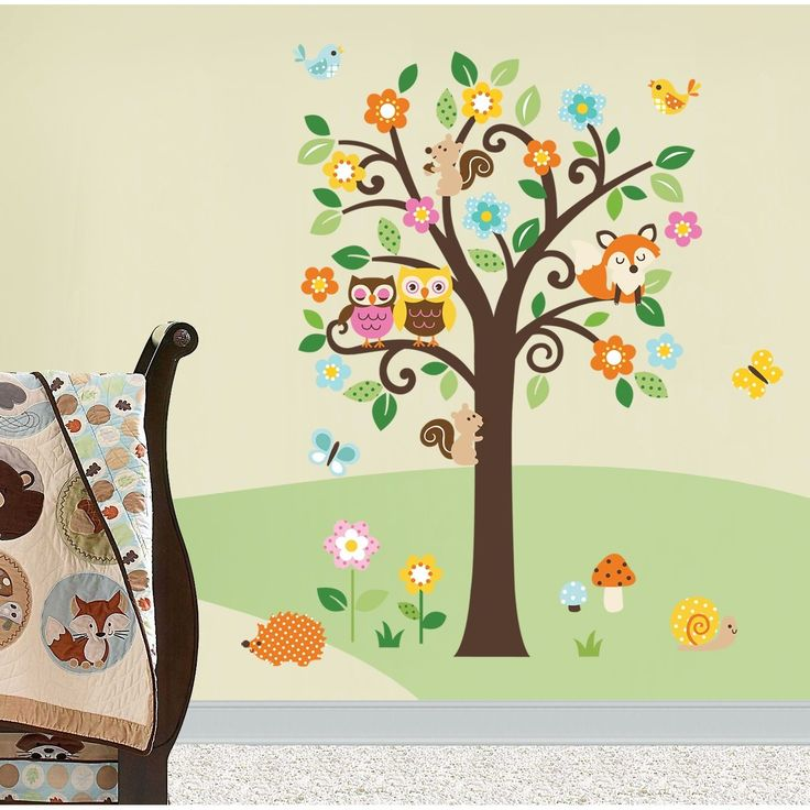 forest creature decalsNursery Decals, Feet Tall, Nurseries Decals, Forests Animal, Girls Trees, Flower Trees, Wall Decal, Trees Assembly, Giants Peel