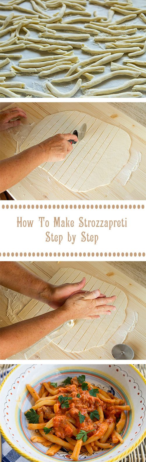How To Make Strozzapreti Step by Step - A complete tutorial for making handmade strozzapreti (priest stranglers) with photos.