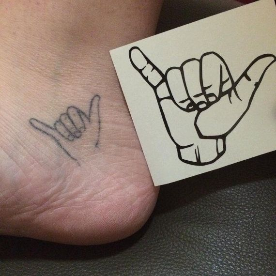 Tattoo Inspired Hang Loose Vinyl Decal By Lucysvinyldecals