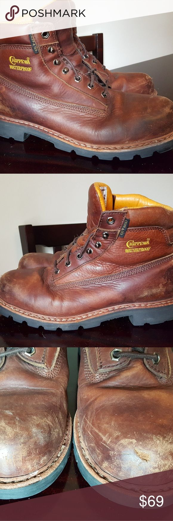 "Chippewa Mens 6"" Waterproof Insulated Boots 10.5 W Good condition. Have some wear as seen in pics. Chippewa Shoes Boots"
