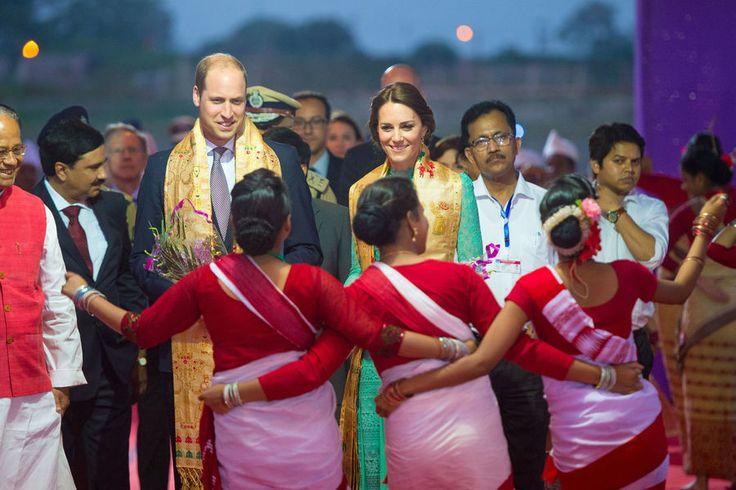 Le prince William et son épouse la duchesse de Cambridge, née Kate Middleton sont arrivés au parc national de Kaziranga, dans l'Est de l'Inde, au troisième jour de leur visite officielle.