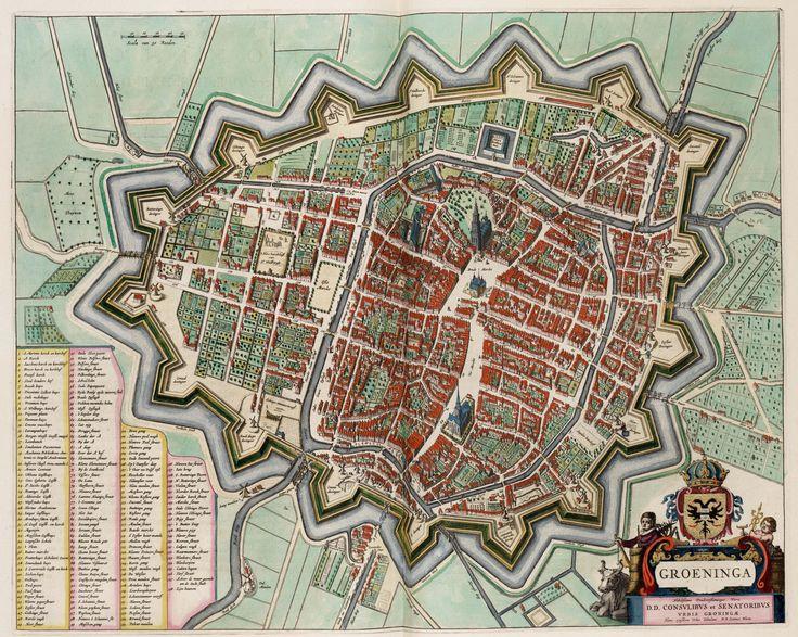 Groningen kaart - 1575