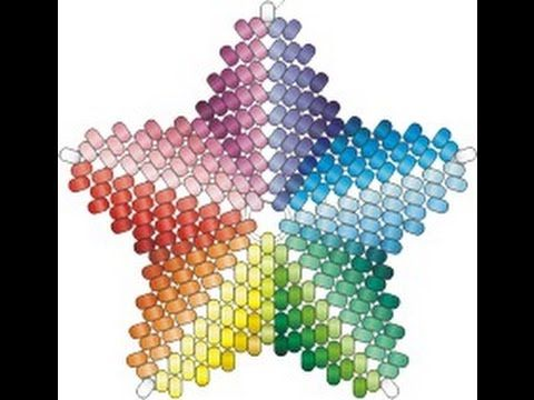 Beading4perfectionists : Beaded 3D Christmas star ornament or pendant beading tutorial - YouTube