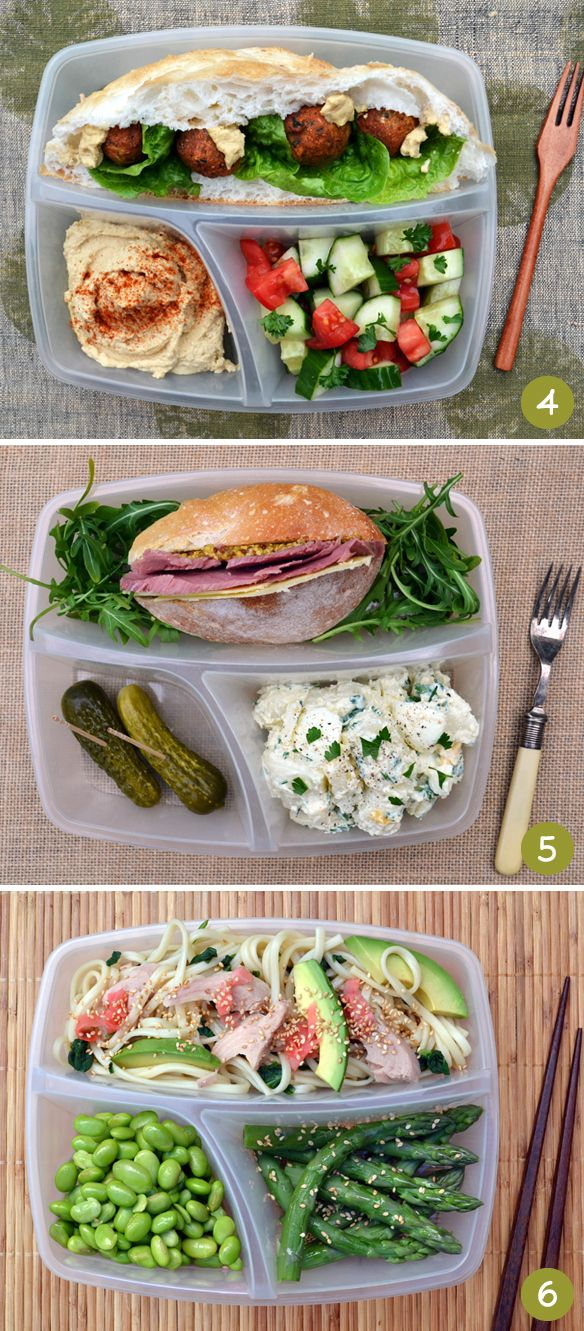 More Bento Box ideas! Via One Equals Two.