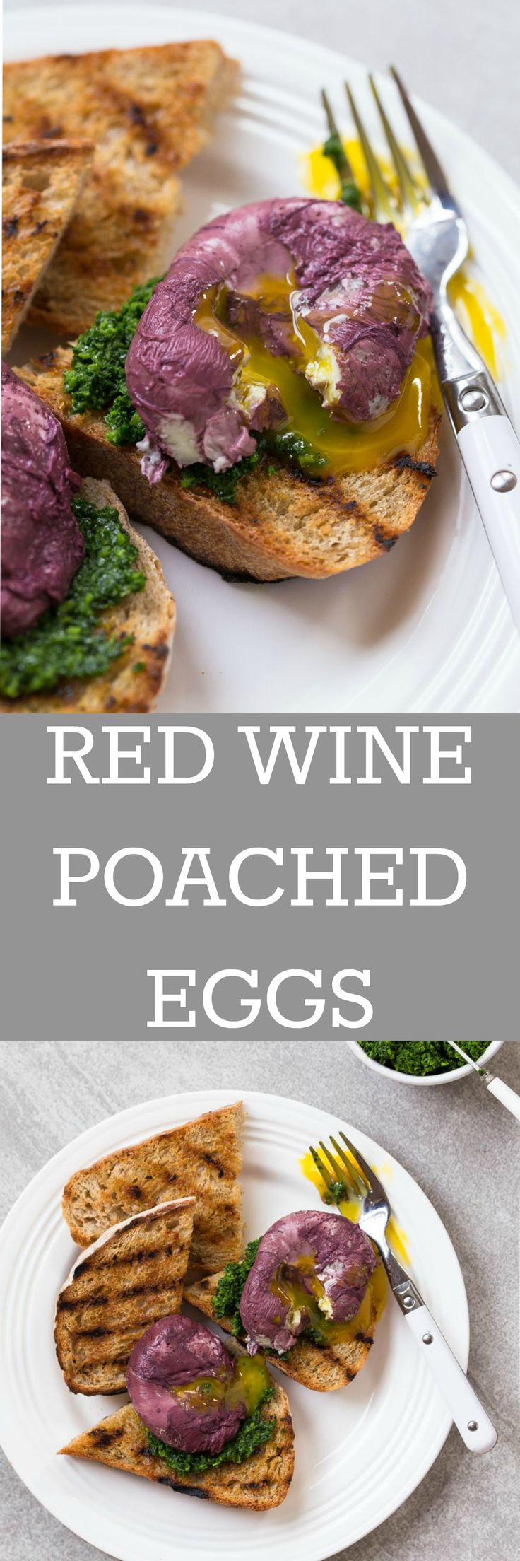 BRUNCH GOALS! Poach eggs in red wine, serve over toast topped with kale pesto! @DessertForTwo