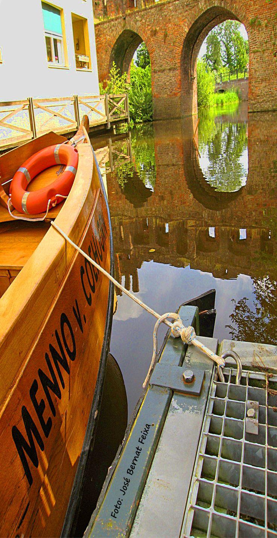 de Fluisterboot bij de Berkelruine Zutphen