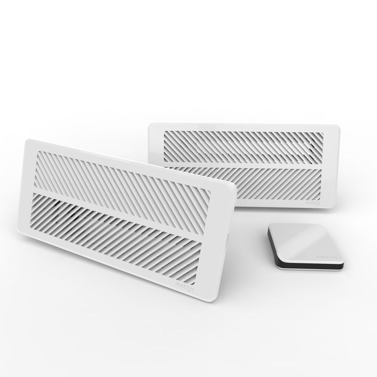 The Keen Home Smart Vent creates an intuitive room-zoned HVAC system that proactively balances your home's temperature. Strategically placing 4 - 8 Smart Vents throughout your home, in rooms that are over-conditioned or rarely used, creates a balanced home temperature system that enhances comfort room by room. The Smart Vent's built-in sensors wirelessly communicate with each other—as well as other smart devices—to regulate and redirect airflow where needed.