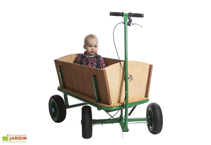 Chariot de Plage en Bois pour Enfants