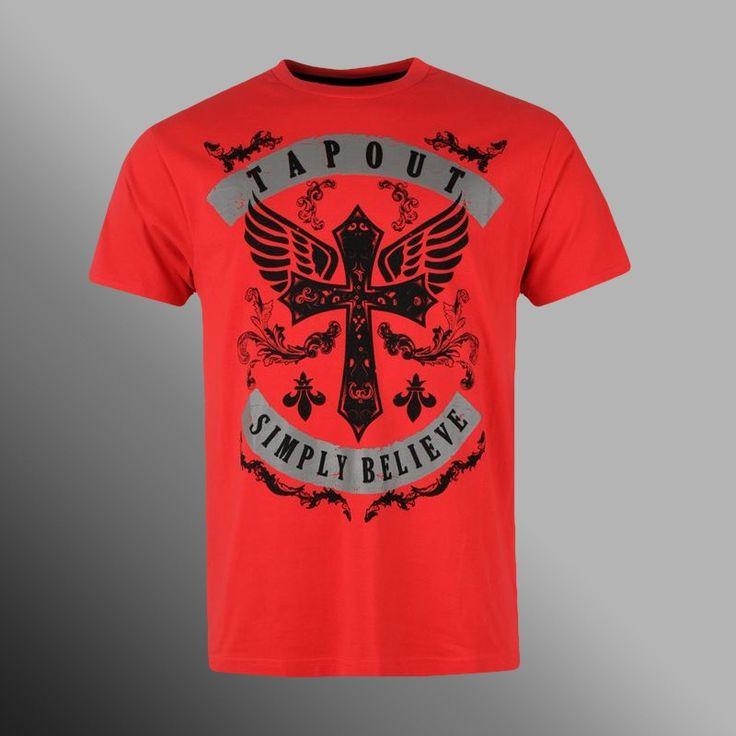 Tričko Tapout Cross Believe red
