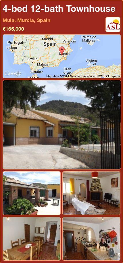 4-bed 12-bath Townhouse in Mula, Murcia, Spain ►€165,000 #PropertyForSaleInSpain