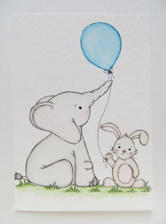 Hase Und Elefant Kindergarten Gemalde Geschlechtsneutrale