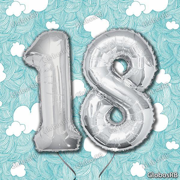 Globos en forma de números con helio para cumpleaños