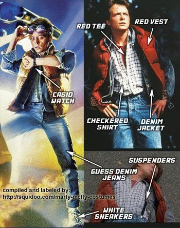 Dress up as Marty from Back to the Future! Full costume guide for ALL 3 movies here: http://costumeplaybook.com/movies/back-to-the-future-movies/3293-marty-mcfly-costumes/