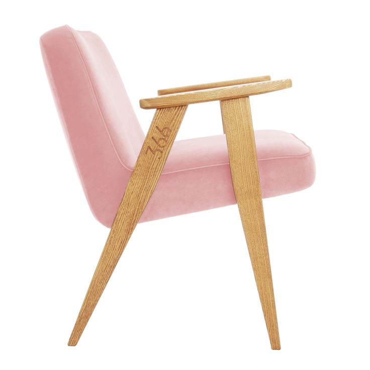 366 junior chair in Powder Pink colour - VELVET collection.
