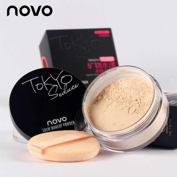 A Estrenar 4 Colores Suave Maquillaje En Polvo Suelto Polvo de Acabado Transparente A Prueba de agua Cosmética Para La Cara Acabado Ajuste Con Puff