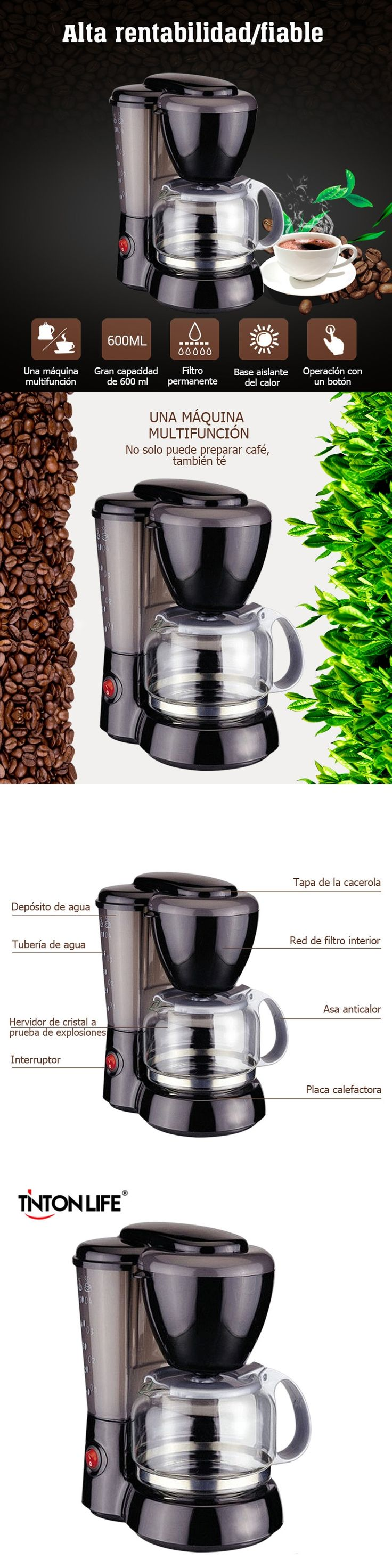 TINTON LIFE High-quality Automatic Espresso Electric Coffee Maker Drip Coffee Machine