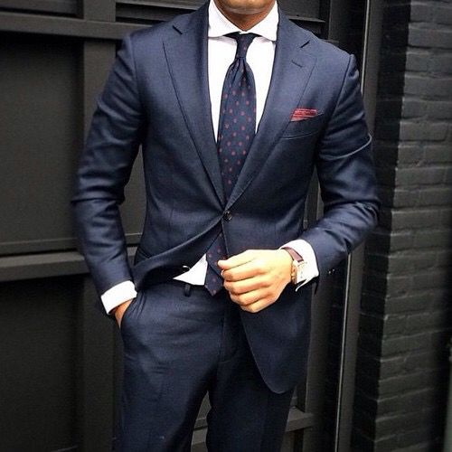 Polka Dot Tie and Suit