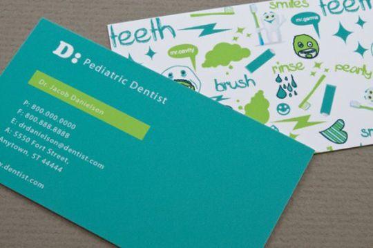 Dental Business Card for Kids