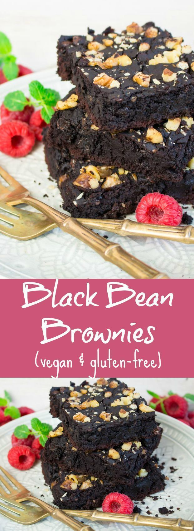 These vegan black bean brownies are not only super fudgy and chocolatey but also gluten-free and really easy to make!