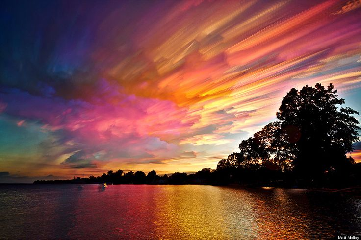 Timestack' Photos Collapse Entire Sunsets Into Single, Mesmerizing Images. This is burning cotton candy flying through the sky
