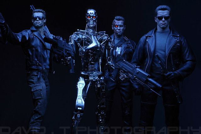 1 4 Scale Terminators Group Shot Enterbay Hot Toys Sideshow