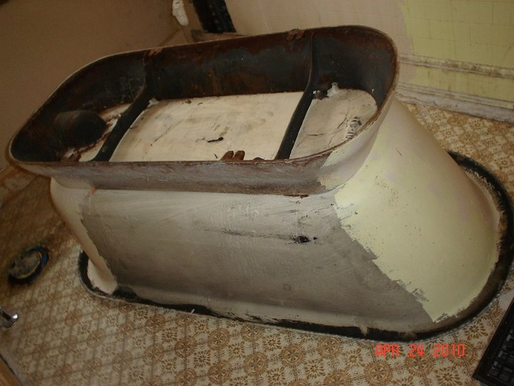 Tub is flipped over so that we can remove old paint and   Antique  RestorationCast IronRustExterior66 best Cast Iron Antique Restoration images on Pinterest   Home  . Antique Cast Iron Tub Value. Home Design Ideas