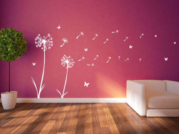 Calcoman a de pegatinas de pared decoraci n floral de - Calcomanias para paredes ...