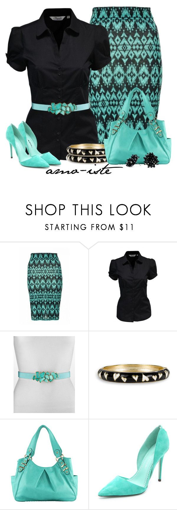 """Midi Skirt at Work"" by amo-iste ❤ liked on Polyvore featuring Quiz, Oscar de la Renta, Betsey Johnson, ALDO, Jean-Michel Cazabat and Betty Jackson"