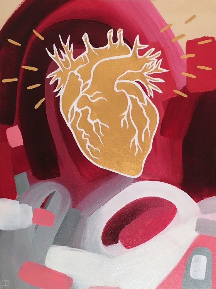JENNIFER CLARK - Heart of Gold, 2016 12˝ × 9˝ Acrylic on Panel