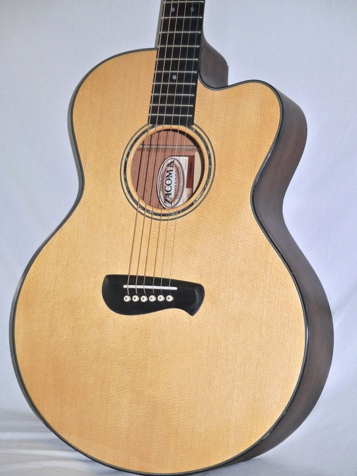tacoma em14c acoustic guitar with case made in usa