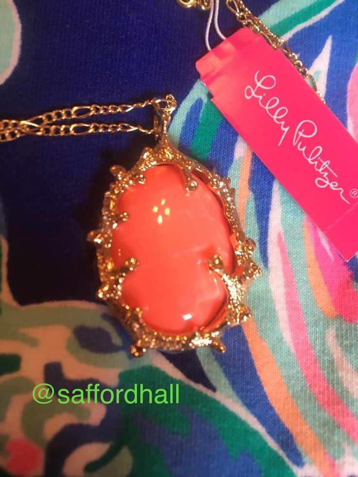 NWT LILLY PULITZER NECKLACE Coraline Orange Pendant #LillyPulitzer #Pendant