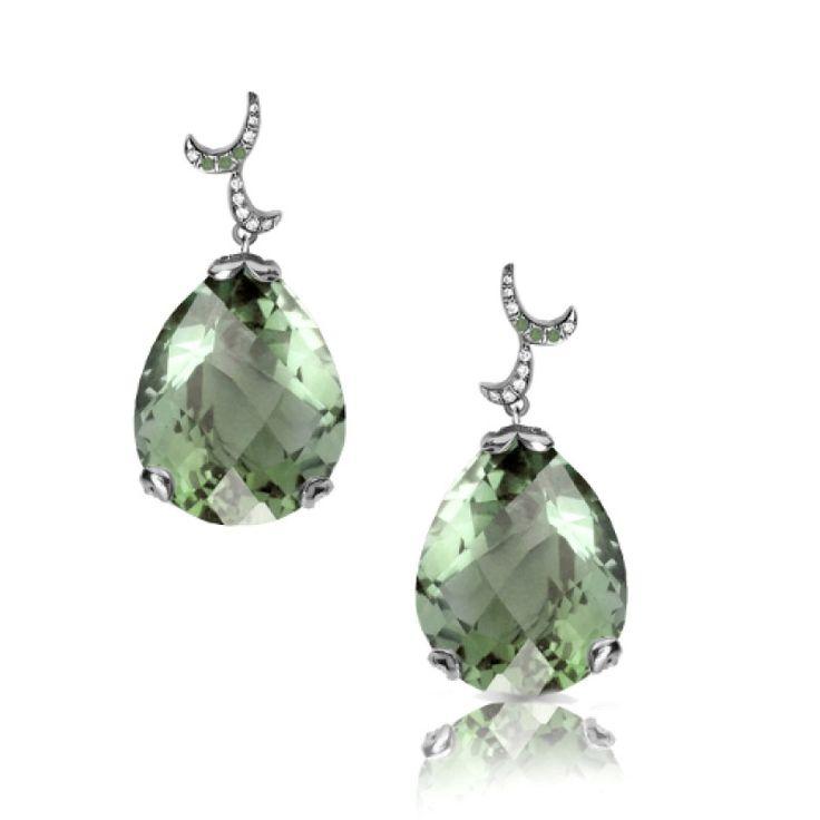 Whispering Earrings - Green Amethyst - Fei Liu #jewellery #feiliu #necklace #luxury #earrings