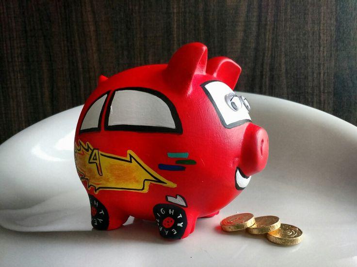 Porky alcancía Rayo McQueen (Cars) @porkysialcancias