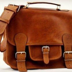 Cartable-Cuir-Vintage-Retro-Sac-cuir-bandoulire-sign-Paul-Marius-Collection-0