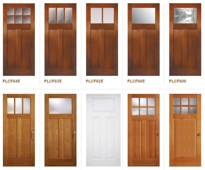 Craftsman style doors craftsman bungalo foursquare for Different types of doors for houses