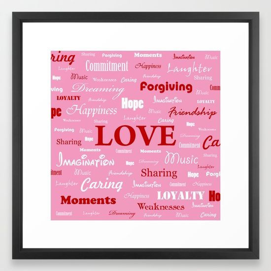 """""""Love is a Strawberry Ice Cream"""" Framed Art Print by George Barakoukakis. The Vector frame is made from solid wood with a contemporary, angular profile measuring 0.87"""" wide x 0.87"""" deep. A gesso coating gives the moulding rich color and a smooth finish. Premium shatterproof acrylic protects the art print, while an acid free dust cover on the back provides a custom finish. Includes wall hanging hardware."""